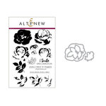 Altenew - Die and Clear Acrylic Stamp Set - Build A Flower - Rose