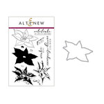 Altenew - Die and Clear Acrylic Stamp Set - Build A Flower - Poinsettia