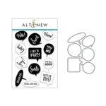 Altenew - Die and Clear Acrylic Stamp Set - Speech Bubbles