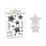 Altenew - Die and Clear Acrylic Stamp Set - Halftone Stars Nesting
