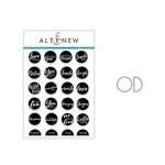 Altenew - Die and Clear Acrylic Stamp Set - Circled Sentiments