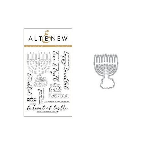 Altenew - Die and Clear Acrylic Stamp Set - Love and Light