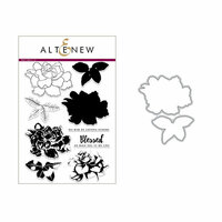 Altenew - Die and Clear Acrylic Stamp Set - Build A Flower - Gardenia