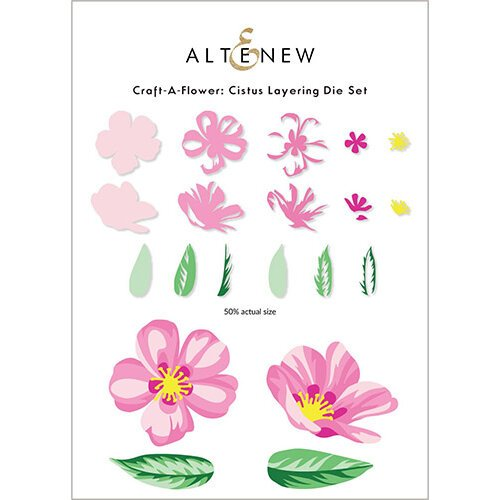 Altenew - Layering Dies - Craft A Flower - Cistus