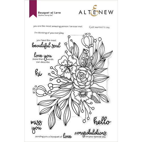 Altenew - Clear Photopolymer Stamps - Bouquet of Love