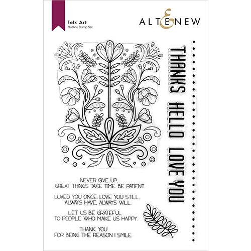 Altenew - Clear Photopolymer Stamps - Folk Art