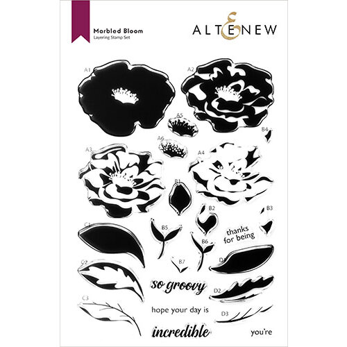 Altenew - Clear Photopolymer Stamps - Marbled Bloom