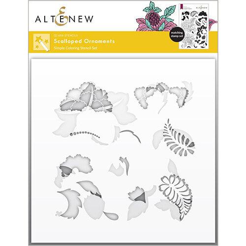 Altenew - Simple Coloring Stencil - 2 in 1 Set - Scalloped Ornaments