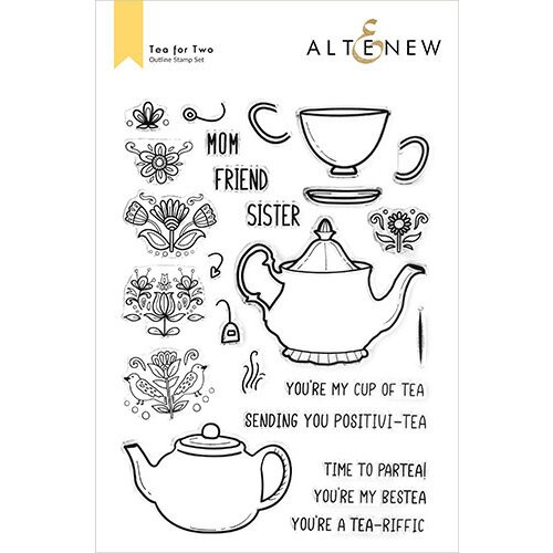 Altenew - Clear Photopolymer Stamps - Tea for Two