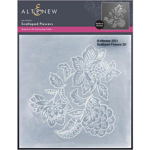 Altenew - Embossing Folder - 3D - Scalloped Flowers