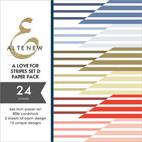 Altenew - A Love for Stripes Set D - 6 x 6 Paper Pack - 24 Sheets
