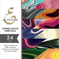 Altenew - Poured Acrylic - 6 x 6 Paper Pack - 24 Sheets