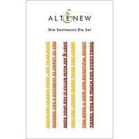Altenew - Dies - Slim Sentiments