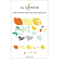 Altenew - Layering Dies - Craft A Flower - Buttercup