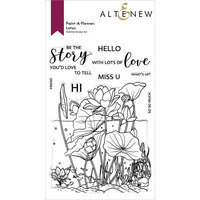 Altenew - Clear Photopolymer Stamps - Paint A Flower - Lotus