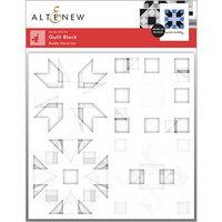Altenew - Builder Stencil - 4 in 1 Set - Quilt Block