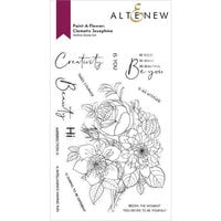 Altenew - Clear Photopolymer Stamps - Paint A Flower - Clematis Josephine