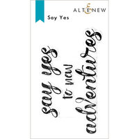 Altenew - Clear Photopolymer Stamps - Say Yes