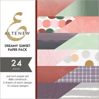 Altenew - Dreamy Sunset - 6 x 6 Paper Pack - 24 Sheets
