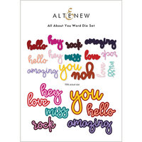 Altenew - Dies - All About You Word