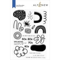Altenew - Clear Photopolymer Stamps - Cool Decades