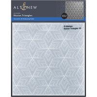 Altenew - Embossing Folder - 3D - Illusion Triangles