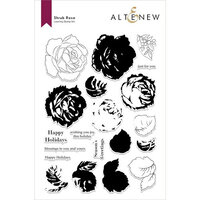 Altenew - Clear Photopolymer Stamps - Winter Shrub Rose