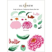 Altenew - Layering Dies - Craft A Flower - California Giants