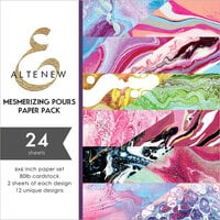 Altenew - Mesmerizing Pours - 6 x 6 Paper Pack - 24 Sheets