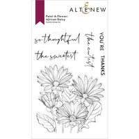 Altenew - Clear Photopolymer Stamps - Paint A Flower - African Daisy