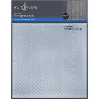 Altenew - Embossing Folder - 3D - Herringbone Tiles