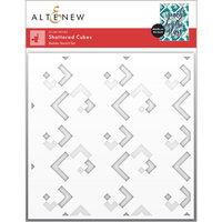 Altenew - Builder Stencil - 2 in 1 Set - Shattered Cubes