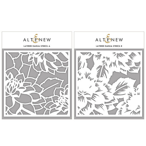 Altenew - Stencil - Layered Dahlia A and B
