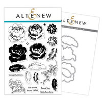 Altenew - Dies and Clear Photopolymer Stamps - Rose Blossom Bundle