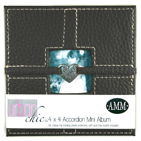 All My Memories Urban Chic Accordion Album 4x4 - Black