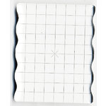Apple Pie Memories - Acrylic Stamping Block -  4 x 5 Inch - With Finger Grips and Alignment Grid