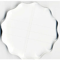 Apple Pie Memories - Acrylic Stamping Block - Round 4.25 Inch - With Finger Grips and Guide Lines