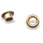 """American Tag - Lost Art Treasures 3/16"""""""""""""""""""""""""""""""" Eyelets - Brass, CLEARANCE"""