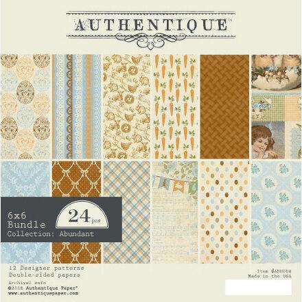 Authentique Paper - Abundant Collection - 6 x 6 Paper Pad Bundle