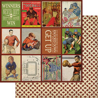 Authentique Paper - All Star Collection - 12 x 12 Double Sided Paper - Football Images