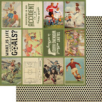Authentique Paper - All Star Collection - 12 x 12 Double Sided Paper - Soccer Images