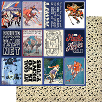 Authentique Paper - All Star Collection - 12 x 12 Double Sided Paper - Hockey Images