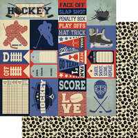 Authentique Paper - All Star Collection - 12 x 12 Double Sided Paper - Hockey Sentiments