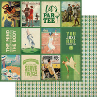 Authentique Paper - All Star Collection - 12 x 12 Double Sided Paper - Golf and Tennis Images