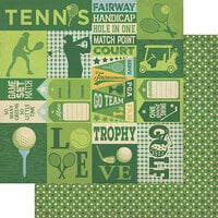 Authentique Paper - All Star Collection - 12 x 12 Double Sided Paper - Golf and Tennis Sentiments