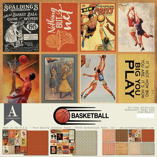 Authentique Paper - All-Star Collection - 12 x 12 Collection Pack - Basketball