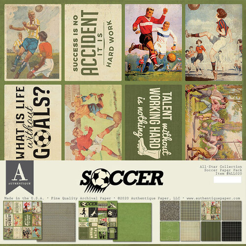 Authentique Paper - 12 x 12 Collection Pack - Soccer