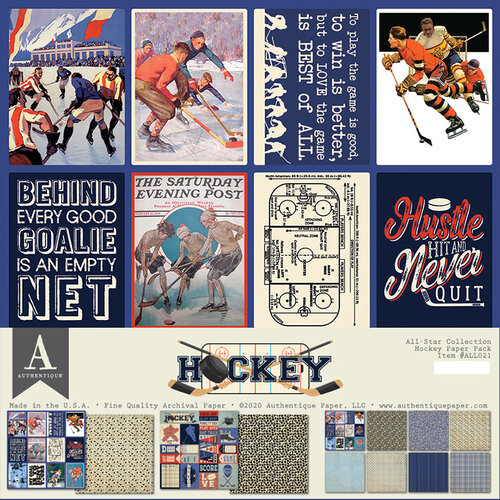 Authentique Paper - 12 x 12 Collection Pack - Hockey