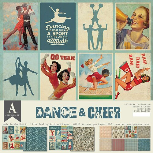 Authentique Paper - 12 x 12 Collection Pack - Dance and Cheer