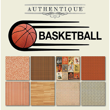 Authentique Paper - All Star Collection - 6 x 6 Paper Pad - Basketball